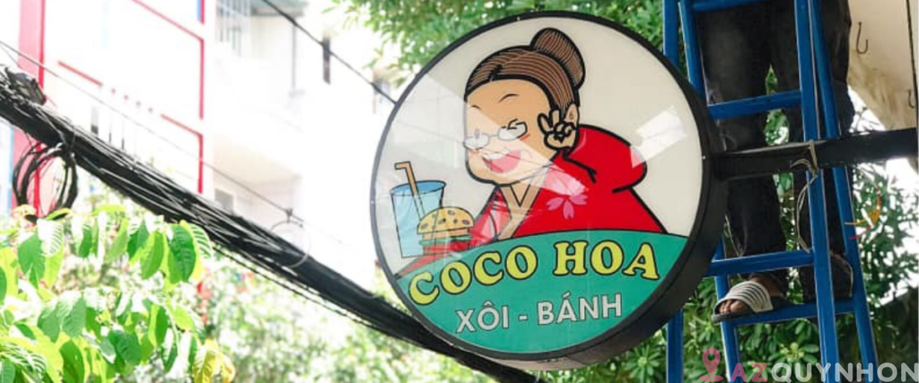 Cô Hoa – Tiệm xôi đa dạng tại Quy Nhơn